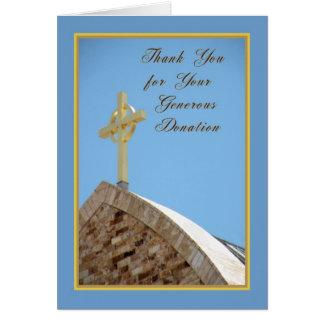 Obrigado para o cartão da doação com cruz celta