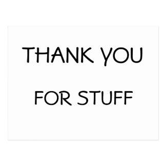 Obrigado para o cartão do material cartão postal
