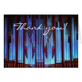 obrigado para seu cartão bonito da música