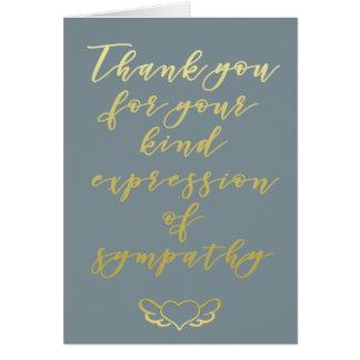 Obrigado para seu cartão da simpatia