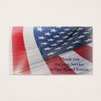 Obrigado para seu cartão das forças armadas do
