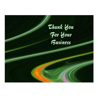 Obrigado para seu cartão do negócio cartão postal