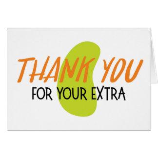 Obrigado para seu cartão extra do rim