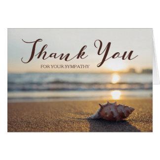 Obrigado para seu Conch da simpatia | em uma praia Cartão