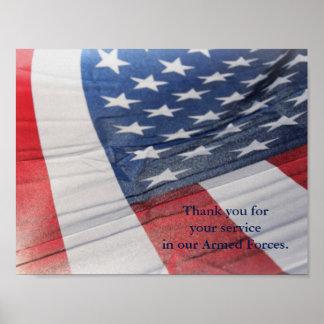 Obrigado para seu poster das forças armadas do