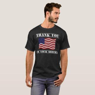 Obrigado para sua camisa da bandeira americana do