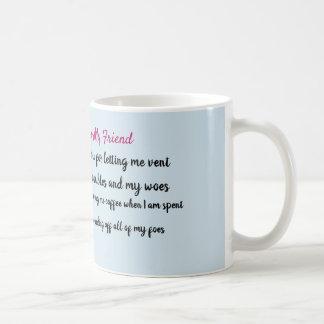 Obrigado para sua caneca de café da amizade