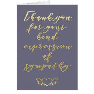 Obrigado para sua simpatia - cartão roxo
