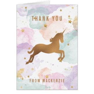 Obrigado Pastel do unicórnio você Cartão