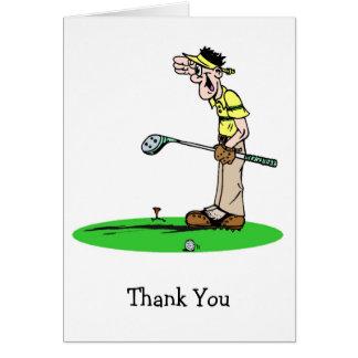 Obrigado pateta do jogador de golfe você cartões