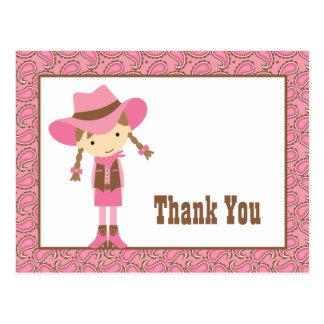 Obrigado pequeno da vaqueira você cartão