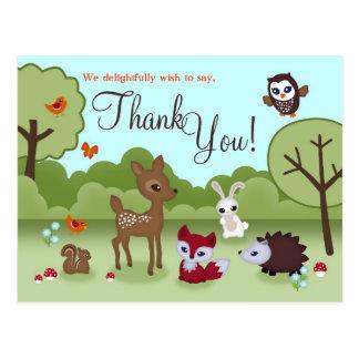 Obrigado pequeno dos bichos você cartão
