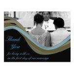 Obrigado personalizado do casamento da foto você c cartoes postais