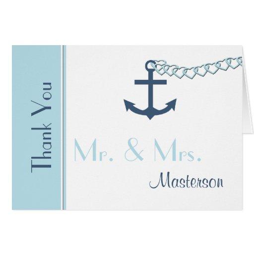 Obrigado personalizado do casamento você cartão de
