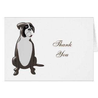Obrigado personalizado do design do pugilista você cartão de nota