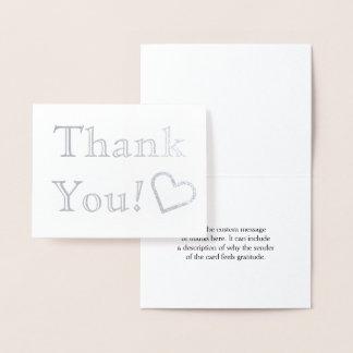 """""""Obrigado personalizado, liso você!"""" Cartão"""