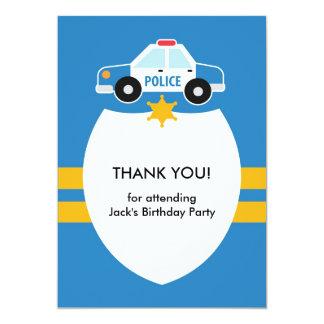 Obrigado policiar o cartão do tema convite 12.7 x 17.78cm