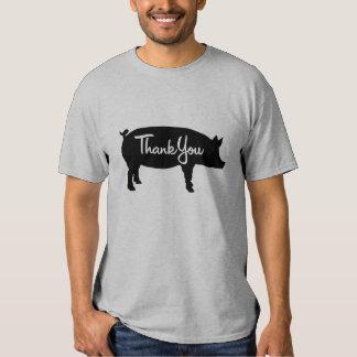 Obrigado porco camisetas