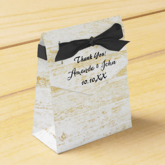 Obrigado preto branco de madeira dourado do favor caixinha de lembrancinhas