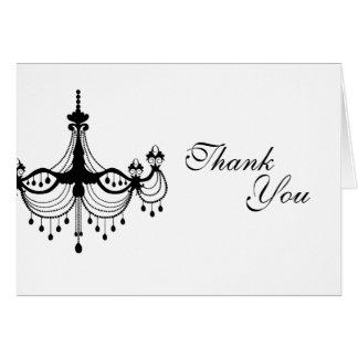 Obrigado preto & branco do candelabro você cartão