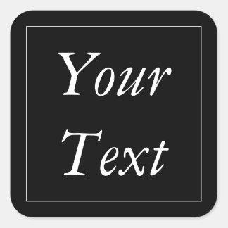 Obrigado preto & branco você etiquetas e etiquetas adesivo quadrado