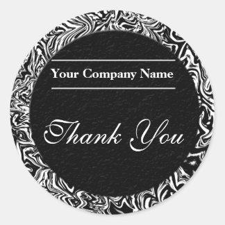Obrigado preto e branco do negócio você etiquetas adesivo