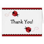 Obrigado preto e vermelho do joaninha você cartão