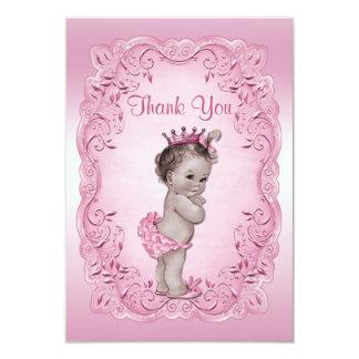 Obrigado princesa cor-de-rosa chá de fraldas do convite 8.89 x 12.7cm