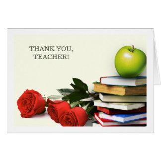 Obrigado, professor. Cartões feitos sob encomenda