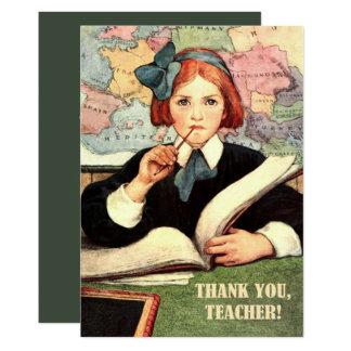 Obrigado, professor.  Cartões lisos da arte do Convite 12.7 X 17.78cm