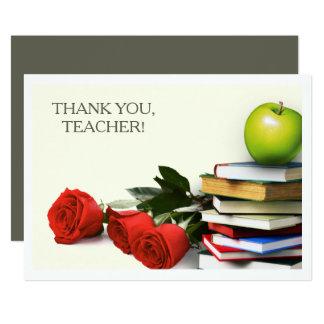 Obrigado, professor.  Cartões lisos feitos sob Convite 12.7 X 17.78cm