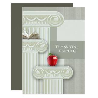 Obrigado, professor. Cartões lisos personalizados Convite 12.7 X 17.78cm