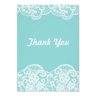 Obrigado que azul de Tiffany você ata Convite 12.7 X 17.78cm