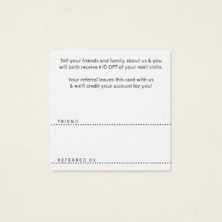 obrigado que da referência você esquadra cartão de visitas quadrado