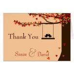 Obrigado que de queda do carvalho dos corações dos cartões