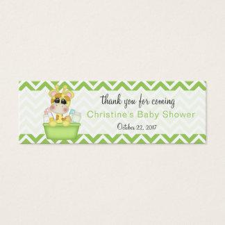 Obrigado que do chá de fraldas do girafa do bebê cartão de visitas mini