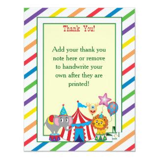 Obrigado que do circo você nota convite 10.79 x 13.97cm