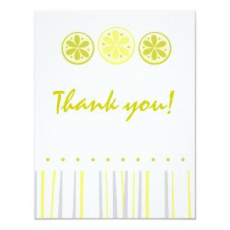 Obrigado que do citrino você nota convite 10.79 x 13.97cm