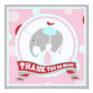Obrigado que do elefante do circo você pica convite quadrado 13.35 x 13.35cm