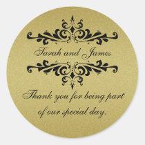 Obrigado que do favor do casamento do olhar do adesivo