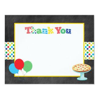 Obrigado que do partido da pizza você nota convite 10.79 x 13.97cm