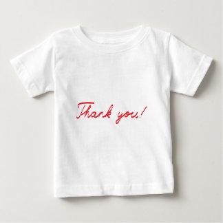 obrigado que escrito à mão você nota camiseta para bebê