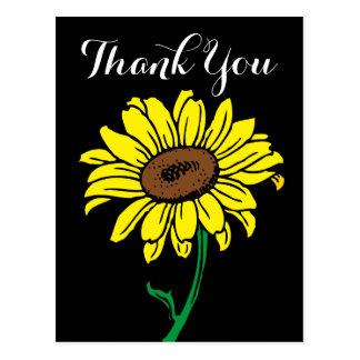 Obrigado que floral do girassol você enegrece & cartão postal