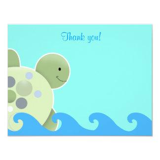 Obrigado que liso de Seaturtle do recife da Convite 10.79 X 13.97cm