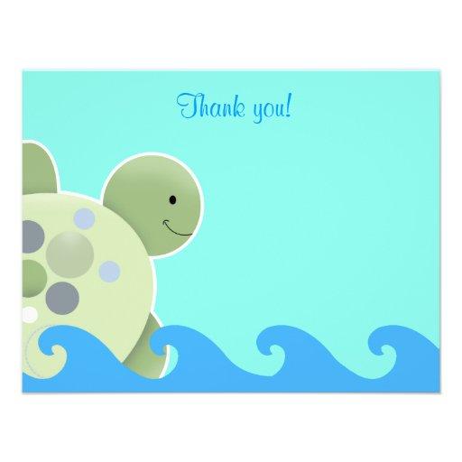 Obrigado que liso de Seaturtle do recife da tartar Convites Personalizado