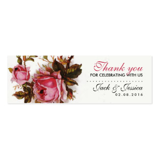 Obrigado que magro do rosa do rosa do vintage você modelos cartão de visita