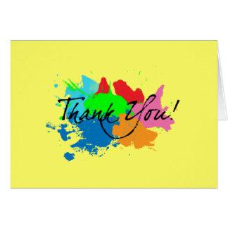 Obrigado que moderno do Splatter da pintura você Cartão