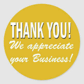 Obrigado que nós apreciamos seu negócio adesivo