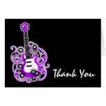 Obrigado que roxo e preto da guitarra da estrela d cartoes
