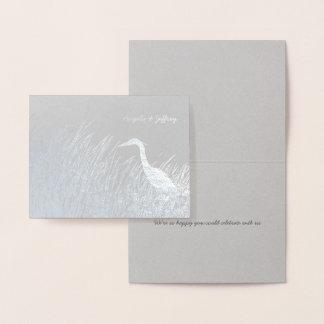 Obrigado que rústico do casamento da silhueta da cartão metalizado